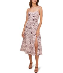 women's astr the label keilani sleeveless midi dress