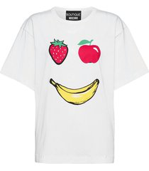 apples t-shirt t-shirts & tops short-sleeved wit boutique moschino