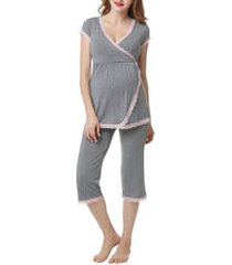 women's kimi and kai cindy nursing/maternity pajamas