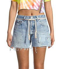 dukes cut-off distressed jeans shorts