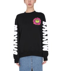 barrow crew neck printed sweatshirt
