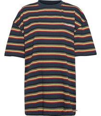 boyfriend tee t-shirts & tops short-sleeved blå han kjøbenhavn