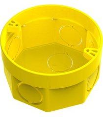 """caixa de luz octogonal em pvc flex 3x3"""" amarela"""