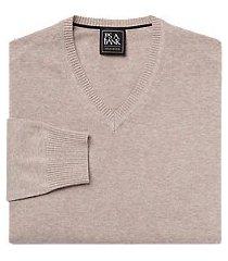 traveler collection pima cotton v-neck men's sweater - big & tall