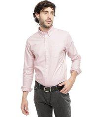 camisa d/struct rosa - calce regular