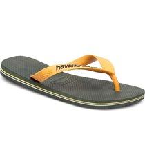 brasil logo flip flop shoes summer shoes flip flops grå havaianas