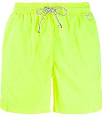 mc2 saint barth drawstring swim shorts - yellow