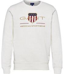 archive shield c-neck sweat-shirt trui gant