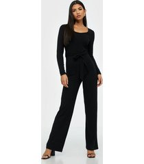 nly trend ribbed ls jumpsuit jumpsuits