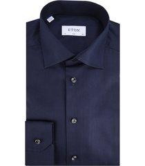 eton overhemd met lange mouwen