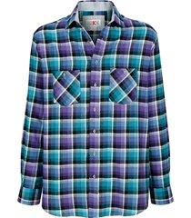 overhemd roger kent paars::blauw