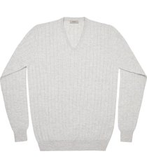 maglione da uomo, lanieri, 100% cashmere grigio chiaro, autunno inverno | lanieri