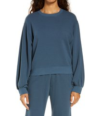women's ugg brook balloon sleeve crewneck pullover, size small - blue