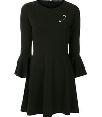 eva alfinete short dress - black