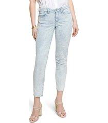 women's nydj easy fit crop slim jeans, size 00 - blue