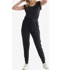 women's sleeveless utility-pocket jumpsuit