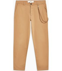 mens stone tapered pants with chain