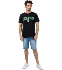 camiseta masculina nba celtics preto - preto - masculino - dafiti
