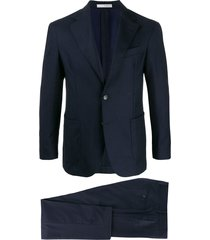 0909 single-breasted two-piece suit - blue