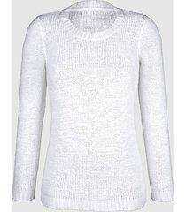 tröja av bandgarn dress in vit