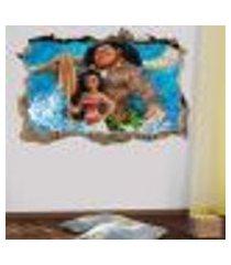 adesivo buraco na parede infantil moana 3 - es 93x144cm