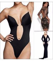 women's full body shaper thong convertible seamless u plunge body suit shapewear