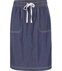 gonna in jeans di cotone con cinta comoda e tasche (blu) - bpc bonprix collection