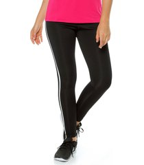leggings negro-blanco adidas performance