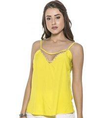 blusa celestine decote v amarela