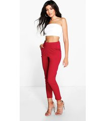 basic crêpe super stretch skinny broek, berry