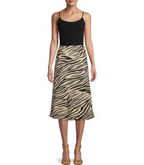 sanctuary women's printed skirt - not bashful - size xl