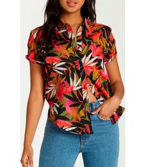 blusa hawaiian daze multicolor billabong