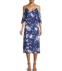 jae cold-shoulder midi dress