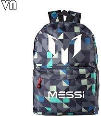 designer lionel messi shoulder bags messi logo printing backpacks for teenagers