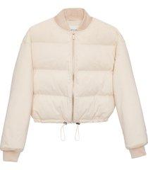 matt & nat kenya vegan bomber jacket, off white