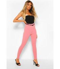 stretch crepe belted legging, dusky pink