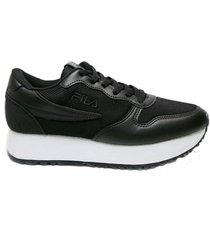 zapatilla negro fila euro jogger wedge