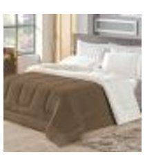coberdrom londres casal queen sherpa/manta soft tabaco