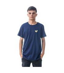 camiseta vitoriano classic - azul marinho