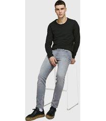 jeans jack & jones gris - calce ajustado