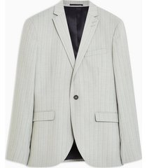 mens grey gray pinstripe super skinny blazer