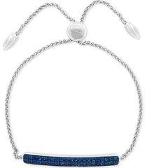 effy sapphire cluster bolo bracelet (1-1/10 ct. t.w.) in sterling silver