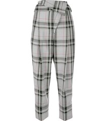 3.1 phillip lim plaid tapered trousers - multi