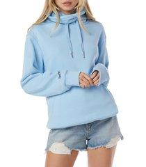 women's favorite daughter mask hoodie, size x-large - blue