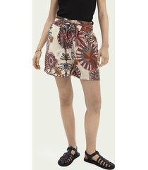 scotch & soda high-rise short met print