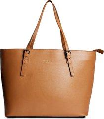 bolsa shopping bag couro house of caju lisa espaçosa caramelo