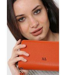 billetera naranja xl