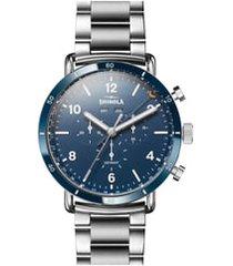 men's shinola the canfield chrono bracelet watch, 45mm