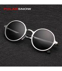 aluminum magnesium sunglasses polarized men round driving sun glasses oculos mas
