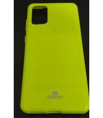 estuche protector goospery jelly fluorescente samsung galaxy s20 ultra - amarillo